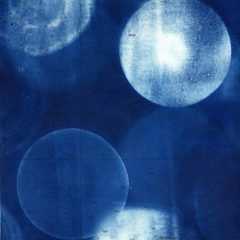 """Marty Ittner, """"Phase III,"""" cyanotype"""
