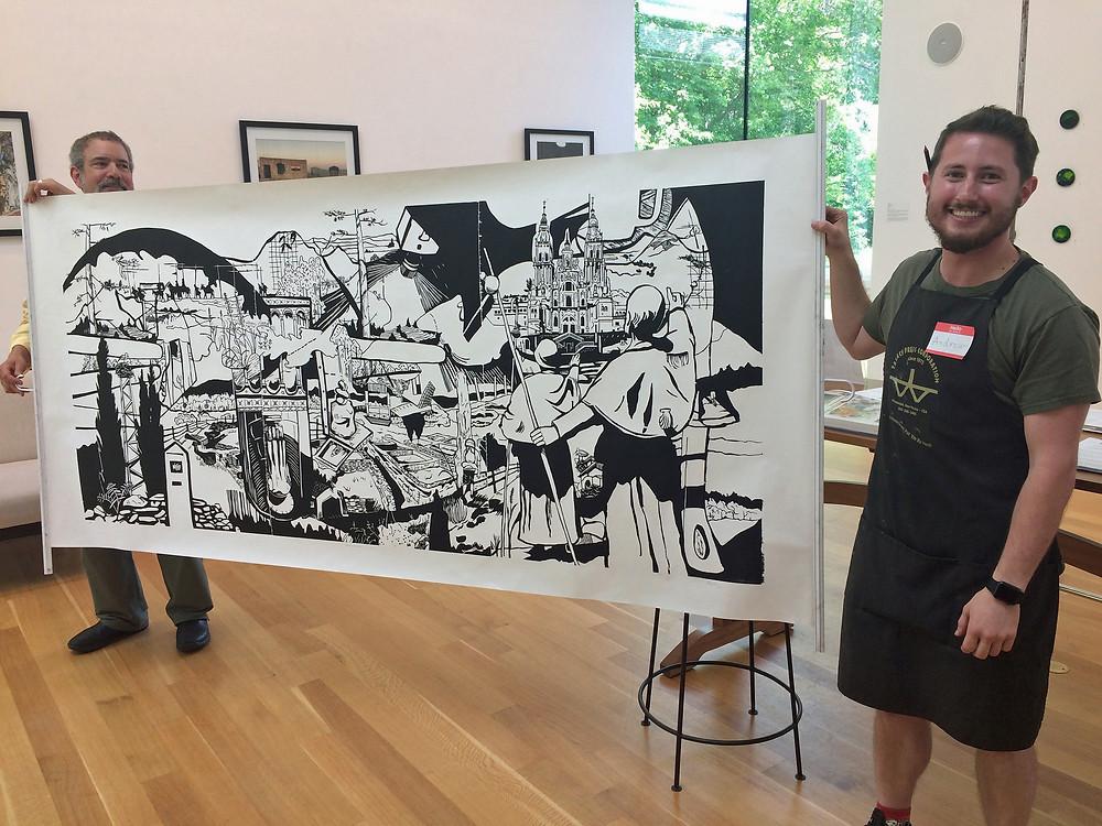 Print by Andrew Stearns at Dedee Shattuck Gallery.