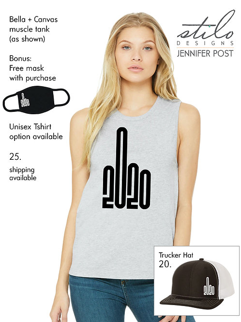 FU2020 Tshirt/Tank + coozie or mask