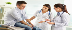 Patient with leg pain slider