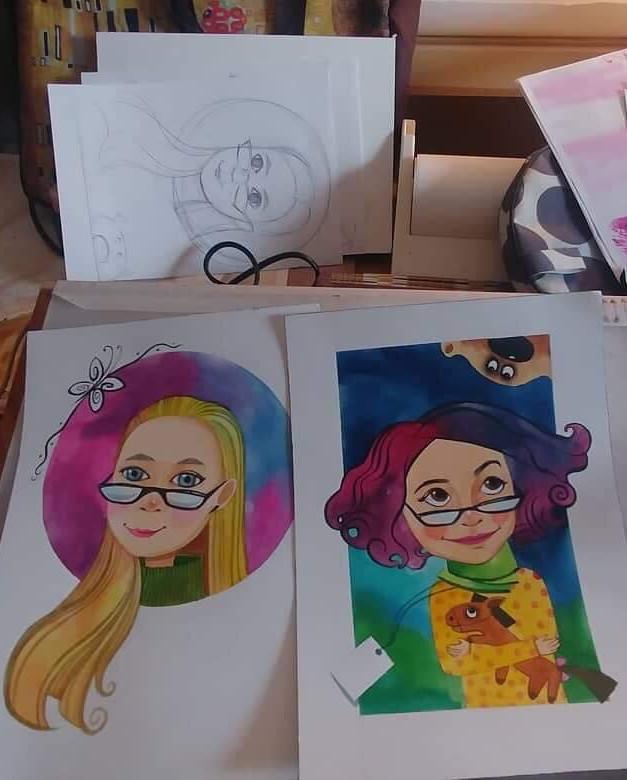 Катя, Каролина хоёрын зураг