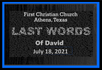 Last Words of David
