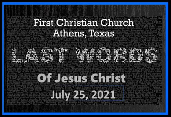 Last Words of Jesus Christ