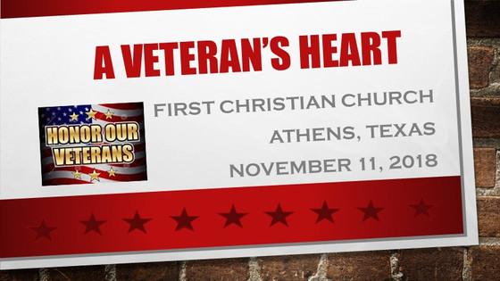 November 11 Sermon - A Veteran's Heart