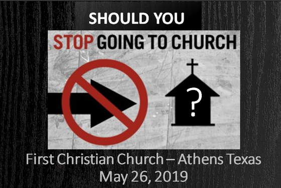 Should You Stop Going to Church?