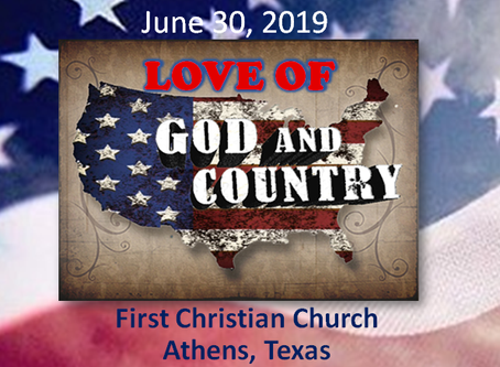 Love of God and Country