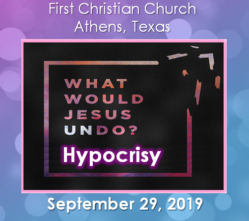 What Would Jesus Undo? Hypocrisy