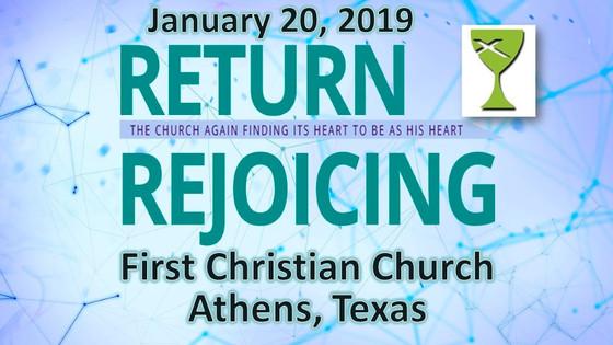 Return Rejoicing - Jan 20 Sermon
