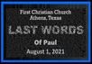 Last of Words of Paul