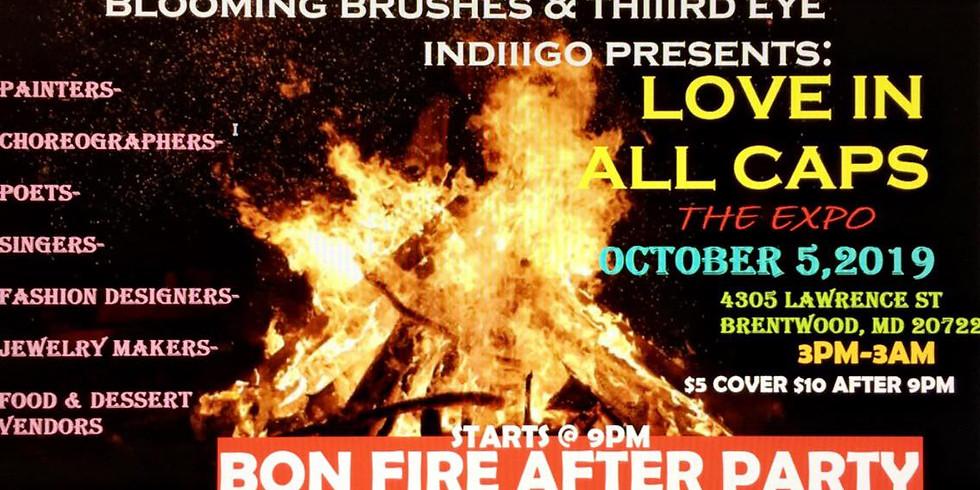 BLOOMING BRUSHED & THIIIRD EYE INDIIGO PRESENTS: LOVE IN ALL CAPS