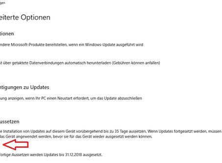 Vorsicht beim Herbst Update von Windows 10