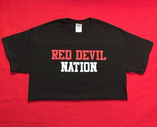 Black Red Devil Nation Short-Sleeve T-Shirt