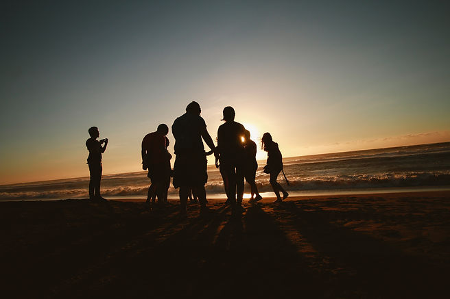 silhouette-photo-of-people-by-the-seasho