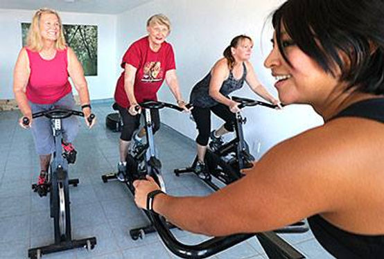 Spin class taught by Norma at La Mision Fitness & Yoga