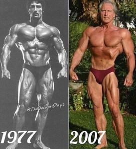 Frank Zane 1977 compared to 2007
