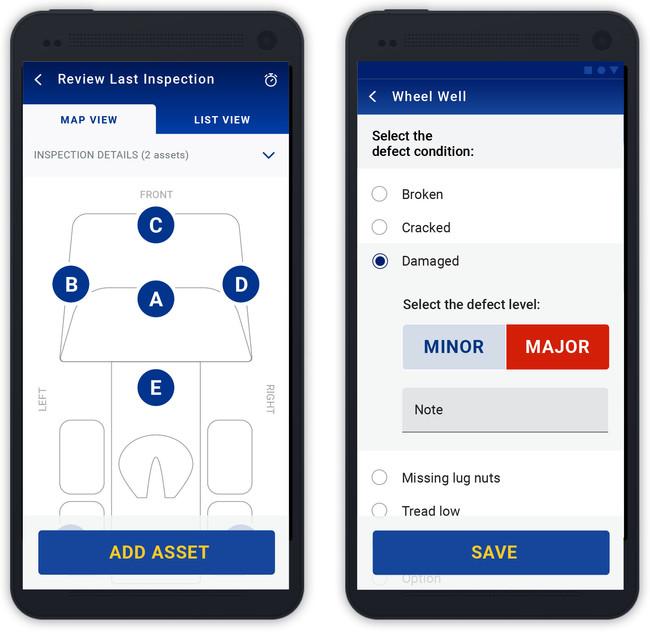 EVIR Mobile App - Mark Defect Flow