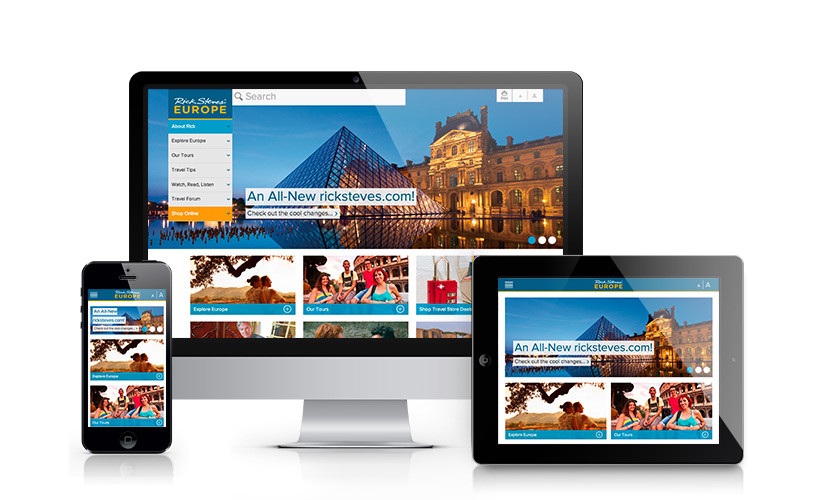 Rick Steves' Responsive Website