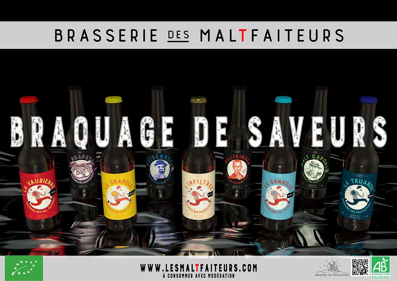 biere artisanale bio marseillaise biere de marseille brasserie des maltfaiteurs malfaiteur malfaiteurs ipa houblon malt 33cl gamme complete