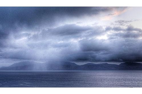 Moody skies over the Isle of Arran