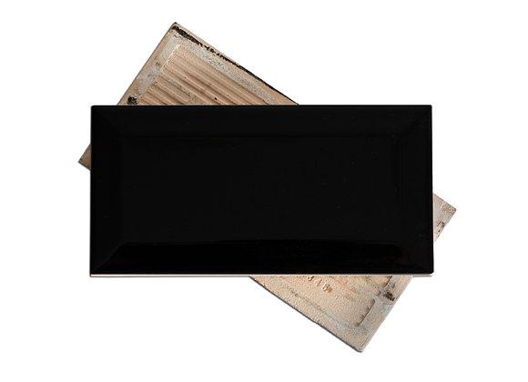 Subway Negro - Liso Brillante 7.5x15cm (m2)