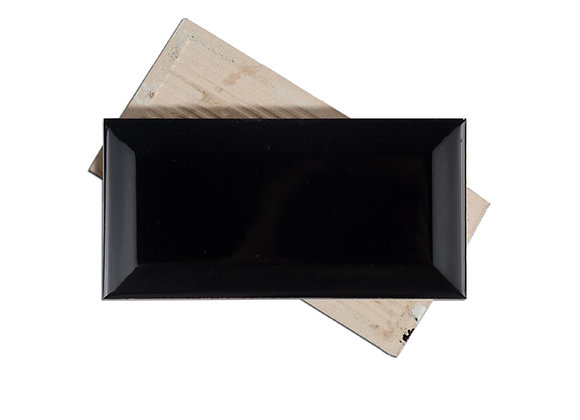 Subway Negro - Biselado Brillante 7.5x15cm (m2)