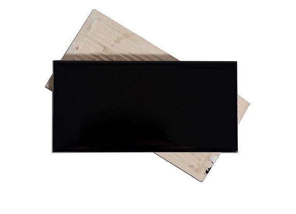 Subway Negro - Liso Mate 7.5x15cm (m2)