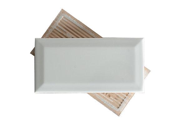Subway Blanco - Biselado Mate 7.5x15cm (m2)