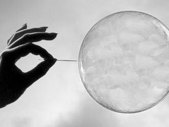 The bubble bursts