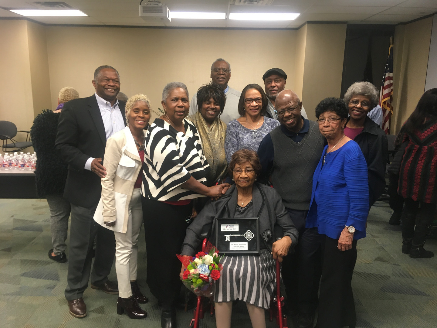 Dr. Myrtle Hightower receives a Key to the City.