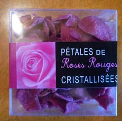 Pétales de Roses Rouges Cristallisées