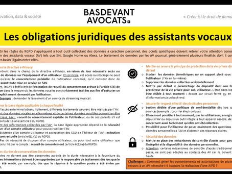 KDS #XVIII. Quelles sont les obligations juridiques pesant sur les assistants vocaux ?