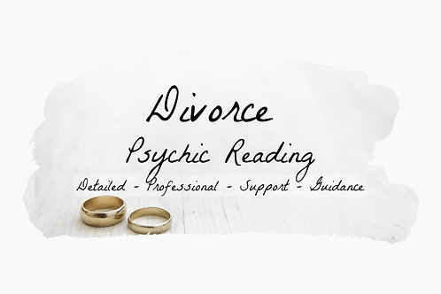 Very Detailed Divorce - Psychic Reading - Marriage - Relationships - Family -