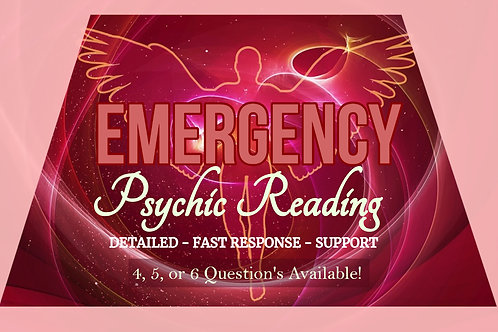 Very Detailed EMERGENCY Psychic Reading - Red Alert -  24hr or 72hr Delivery