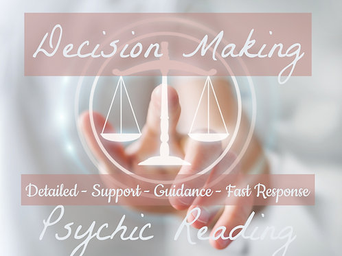 Detailed Decision Making Psychic Reading