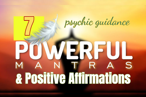 7 Mantras Positive Affirmations - Personalized Detailed -