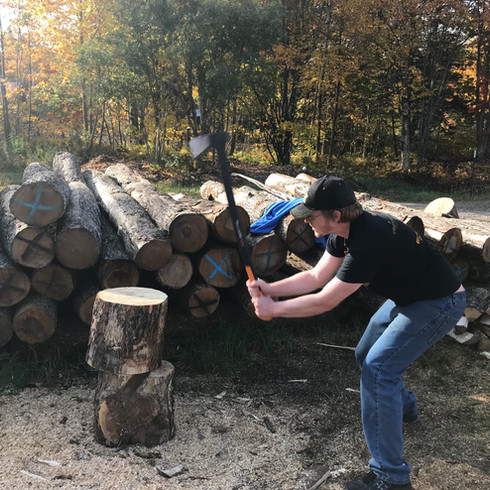 Chopping Wood for Little Brothers