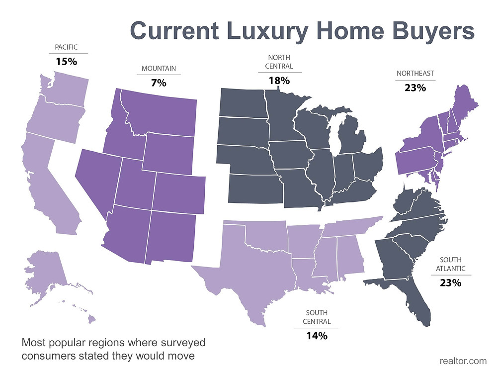 Current Luxury Home Buyers Map