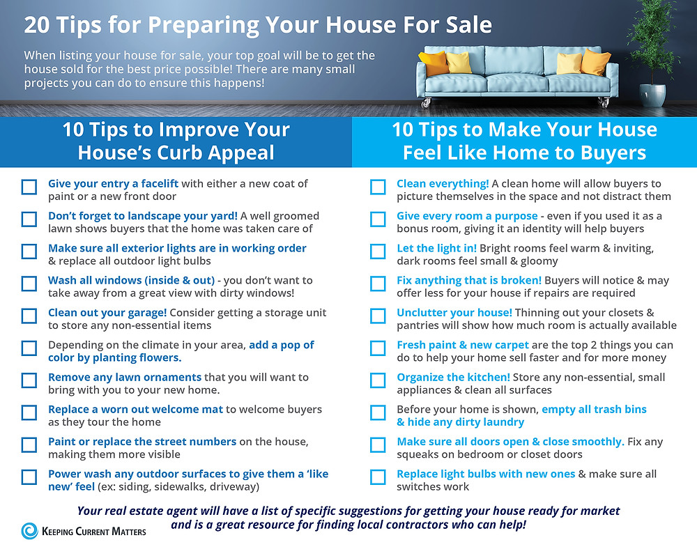Tips for Preparing Your House for Sale This Spring [INFOGRAPHIC]   Keeping Current Matters