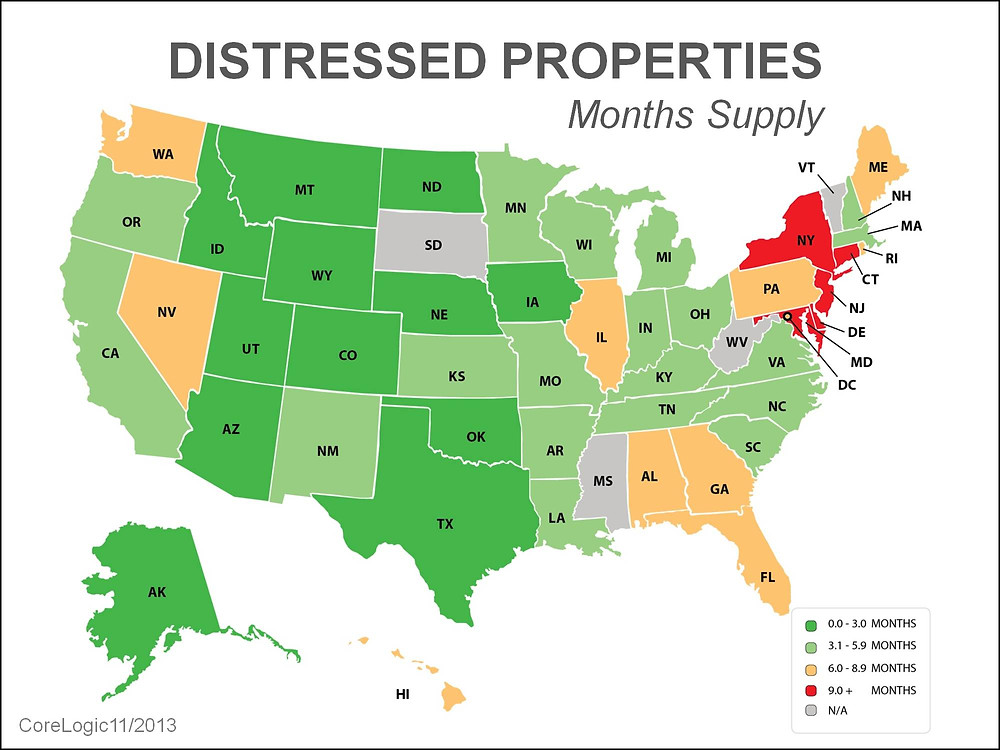Distressed Properties by State