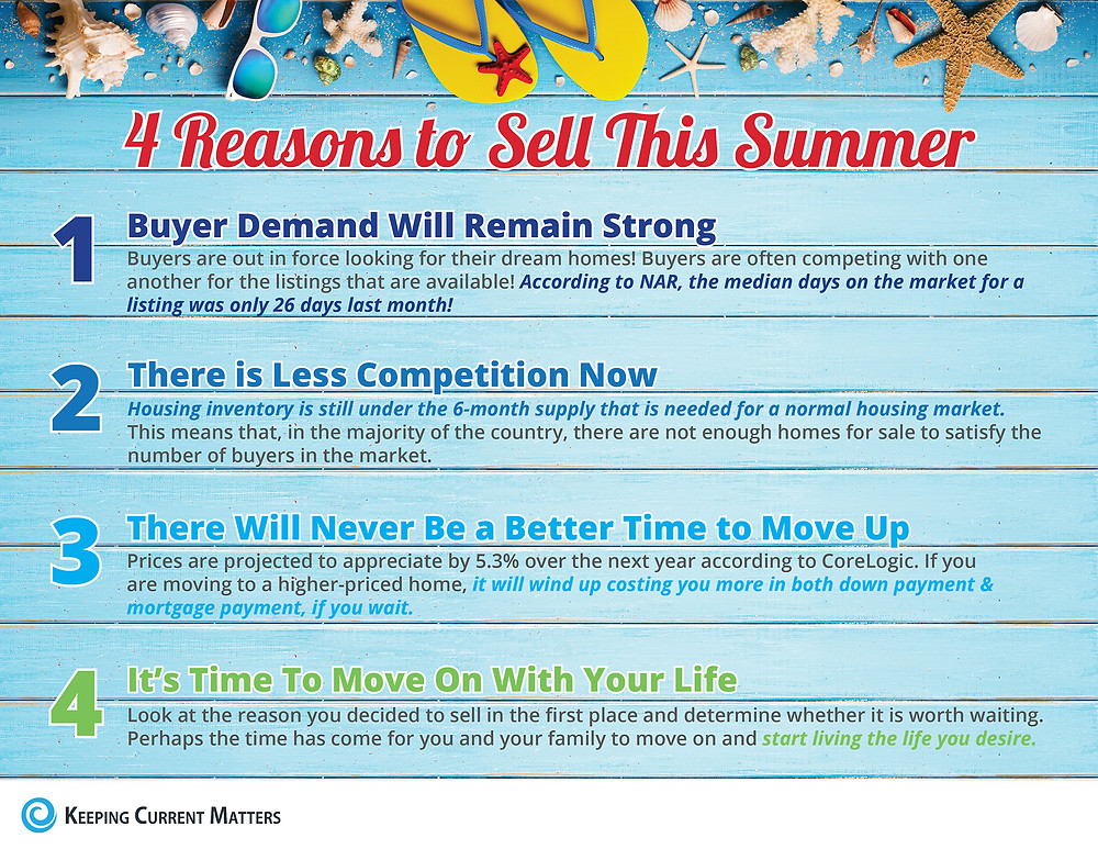 4 Reasons to Sell This Summer [INFOGRAPHIC] | Keeping Current Matters
