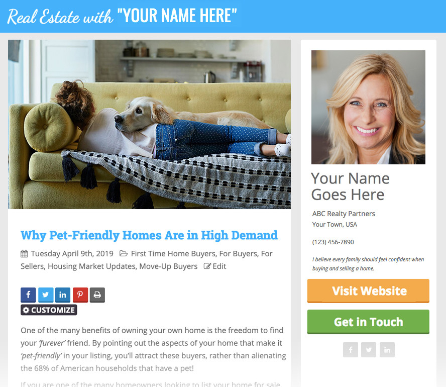 Have You Set Up Personalized Posts Yet? | Keeping Current Matters