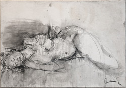 Madame rêve N°4 - 100 x 70 cm (vendue)