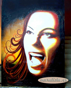 graffiti mujer gritando