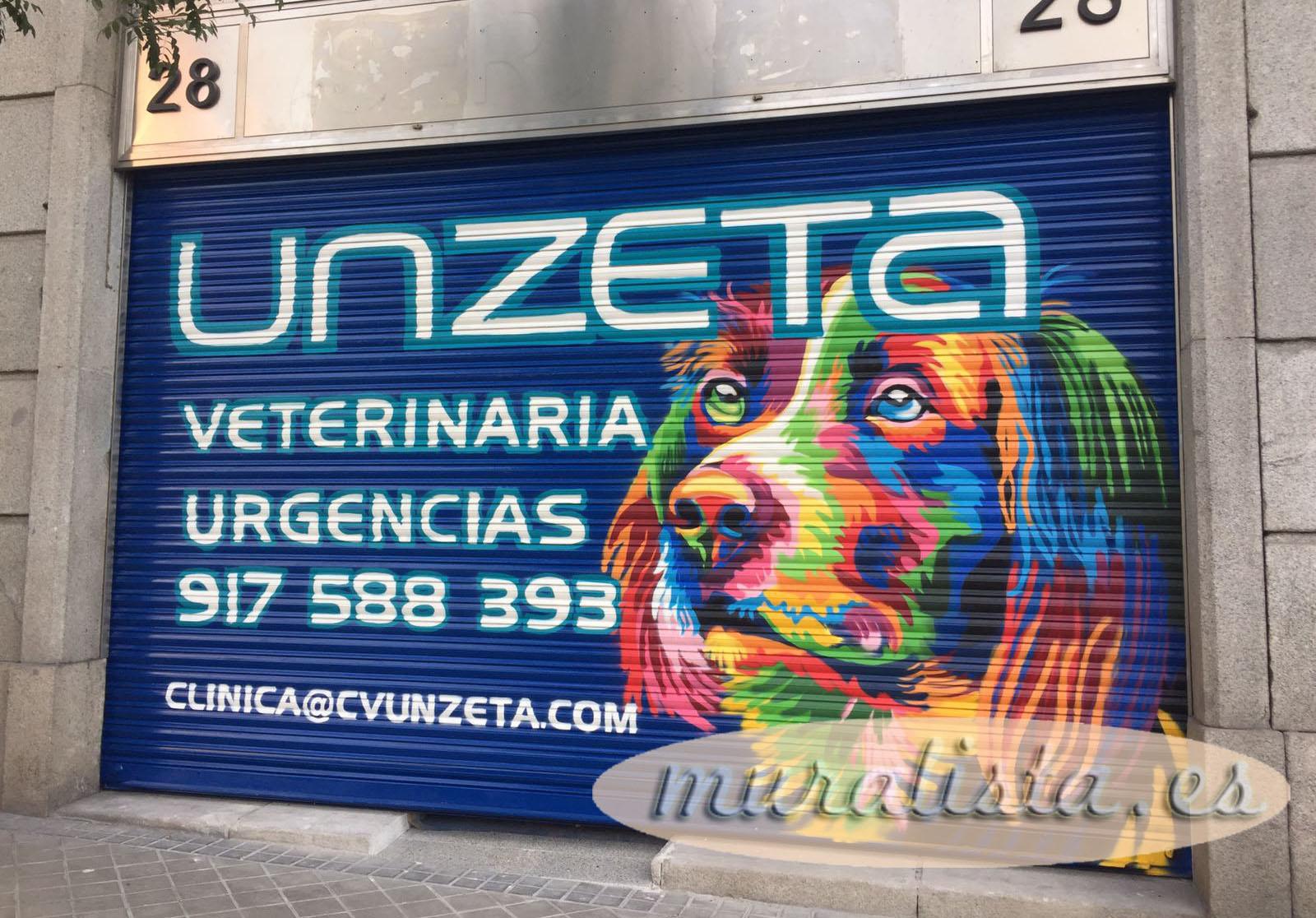 veterinaria cierre graffiti madrid
