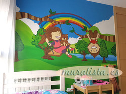 dormitorio infantil mural 2017