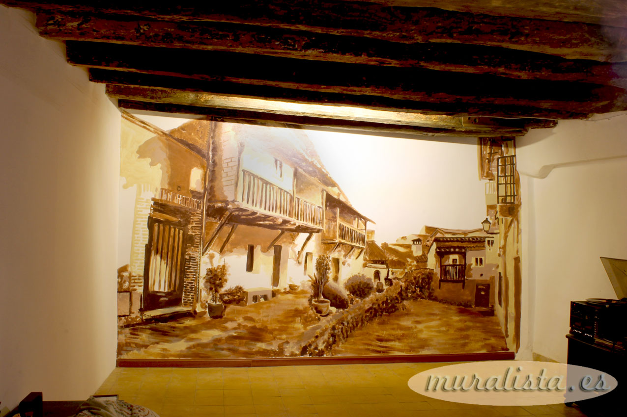 pintura mural casa rural