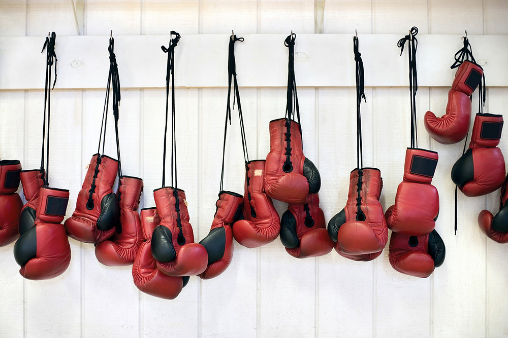 You probably won't have the luxury of boxing gloves in a real fight.