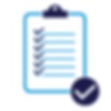 Иконка чек лист черно-красная