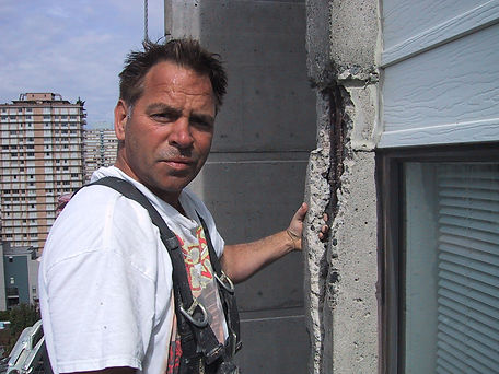 Dave, the founder of Professoinal Restorations at a job site