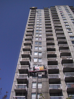 Exterior building painting in Vancouver BC